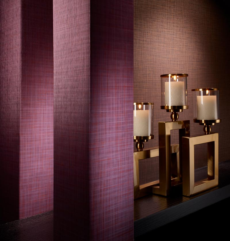 Novello commercial wallcovering with candles by Colour & Design