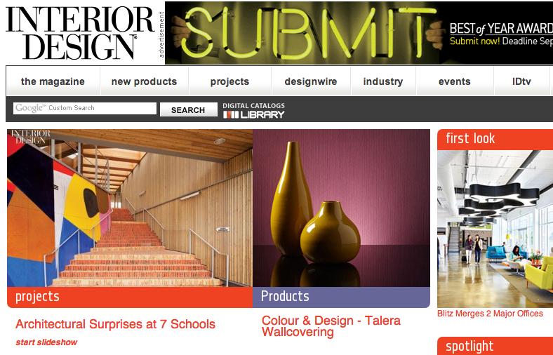colour & design interior design magazine product pick of the day talera wallcovering
