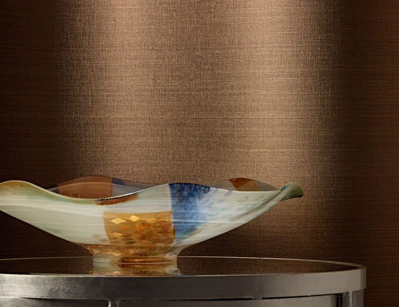 Colour & Design Shimmer Weave with Radiance Wall Commercial Wall Covering with decorative bowl