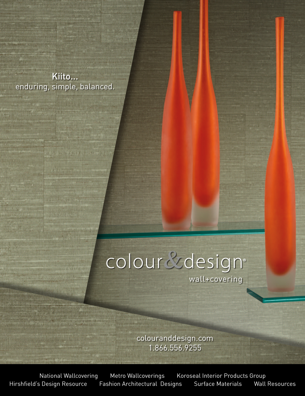 colour and design kiito picholine green commercial wall covering with sculptures