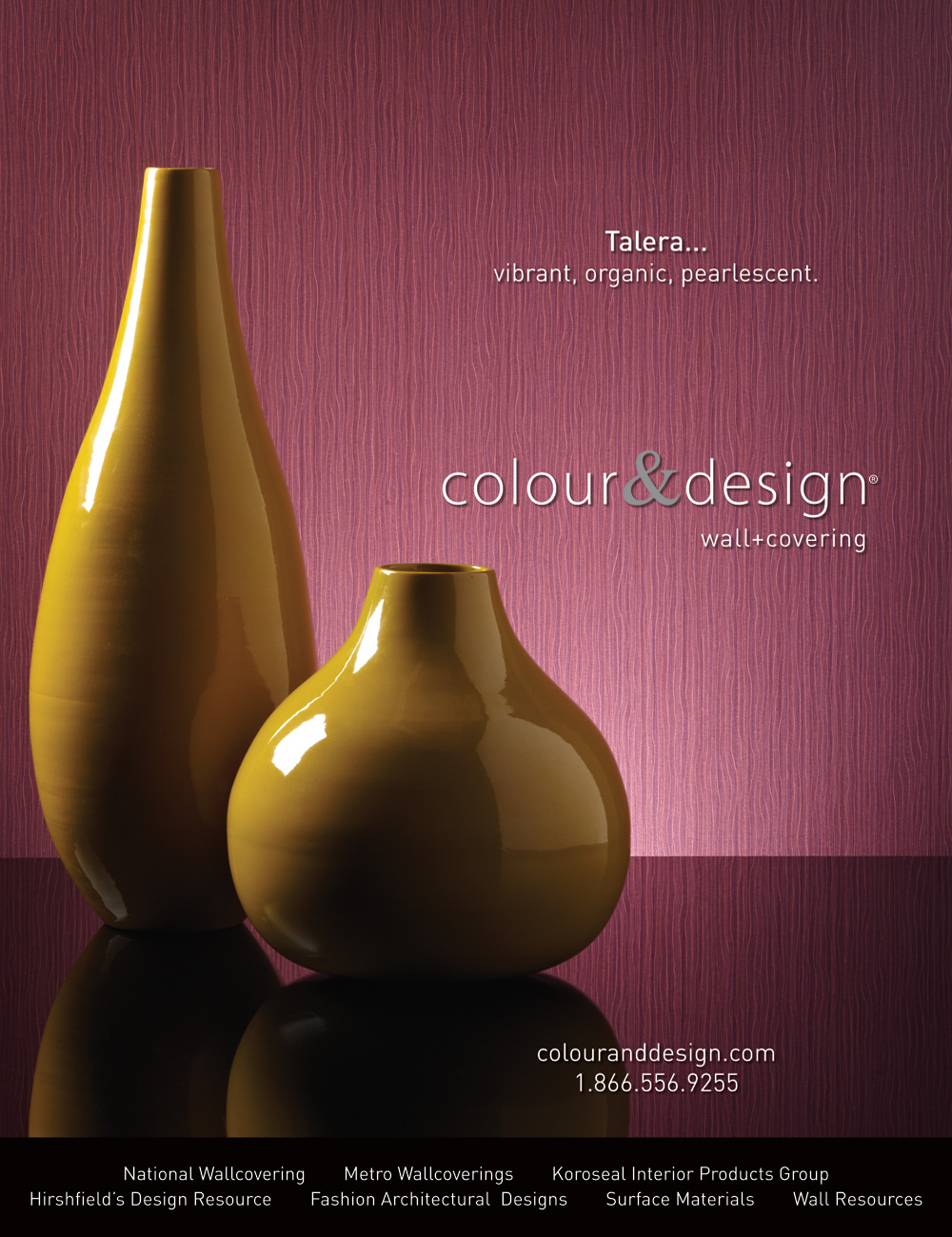 colour & design talera royal plum red commercial wallcovering with vase