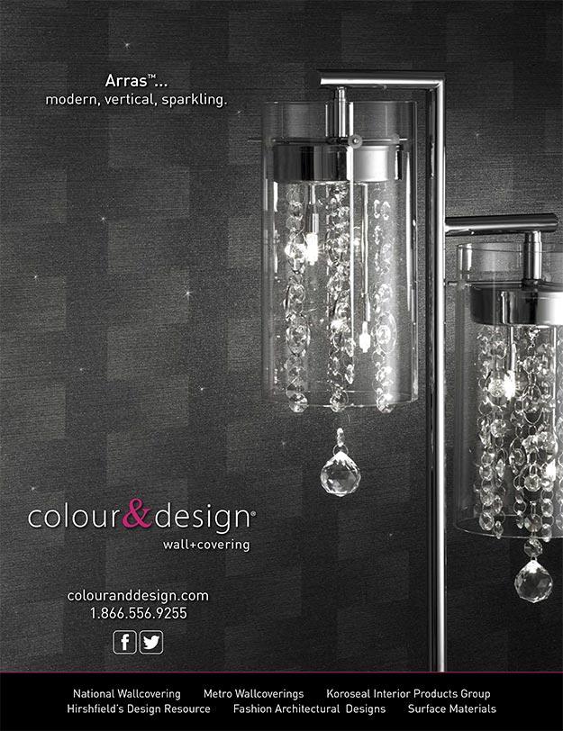 Colour & Design Arras Wall Covering Interior Design Magazine Ad January 2015