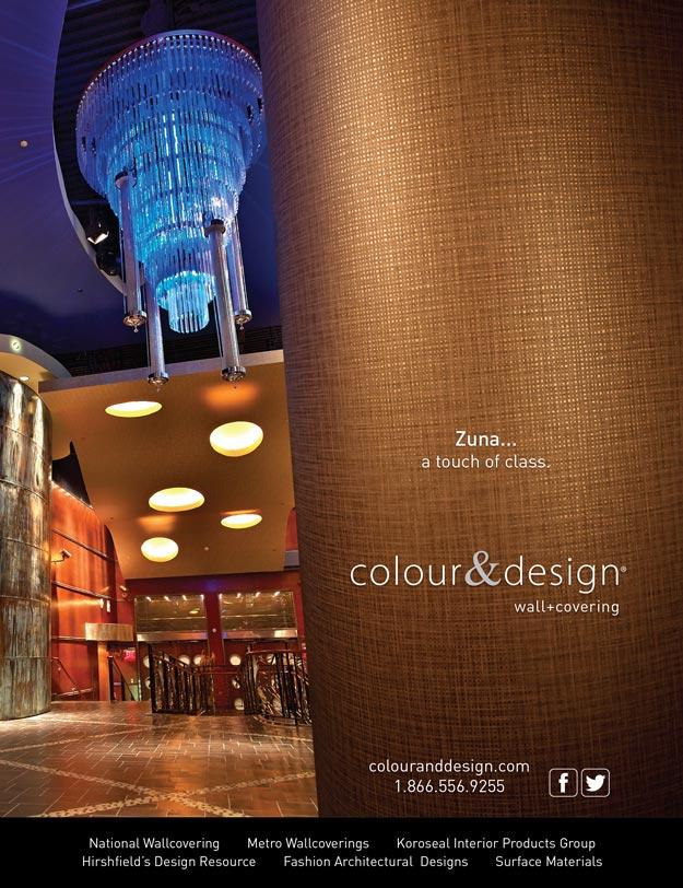 Colour & Design Zuna Wallcovering Interior Design Magazine Advertisement June 2014