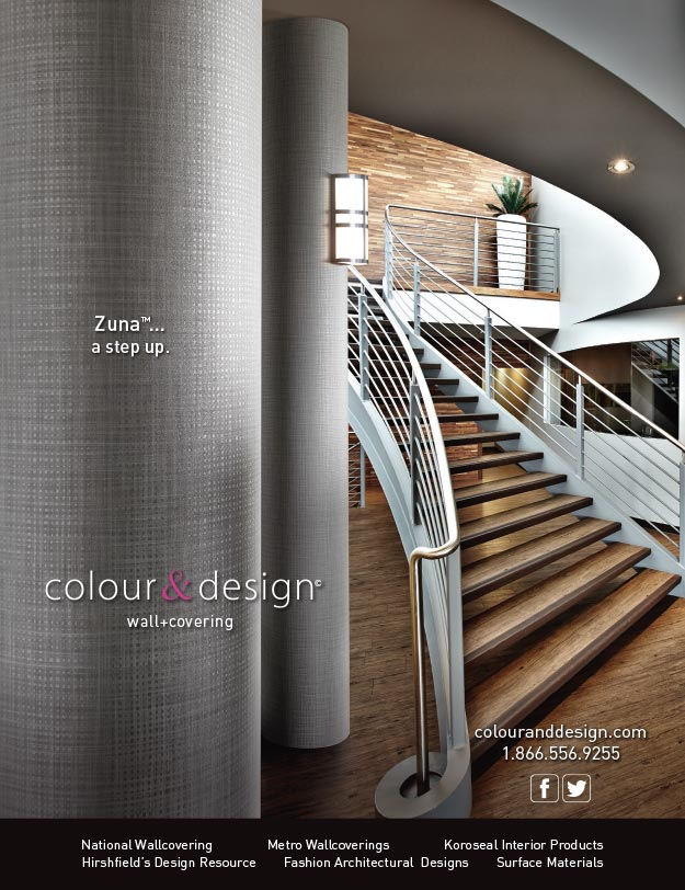 Colour & Design Zuna Wallcovering Interior Design Magazine Ad May 2015